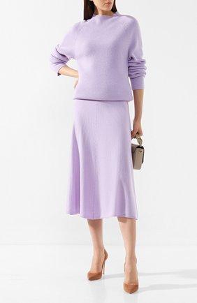 Женская юбка из смеси шерсти и кашемира JOSEPH розового цвета, арт. JF003372 | Фото 2