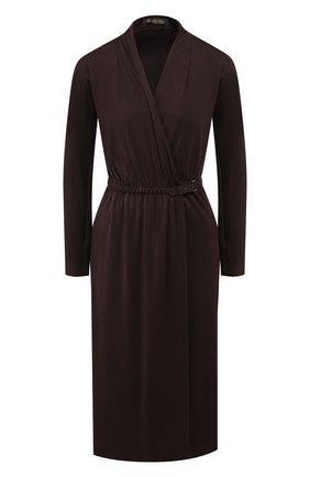 Женское кашемировое платье LORO PIANA коричневого цвета, арт. FAI8388 | Фото 1