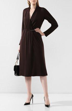 Женское кашемировое платье LORO PIANA коричневого цвета, арт. FAI8388 | Фото 2