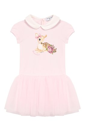 Женский платье MONNALISA розового цвета, арт. 314902SI | Фото 1