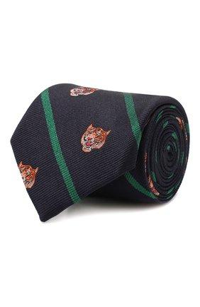 Детский шелковый галстук POLO RALPH LAUREN темно-синего цвета, арт. 352758552 | Фото 1