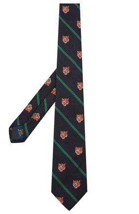 Детский шелковый галстук POLO RALPH LAUREN темно-синего цвета, арт. 352758552 | Фото 2