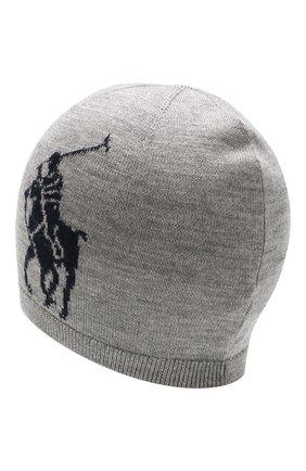 Детского шерстяная шапка POLO RALPH LAUREN серого цвета, арт. 323751591 | Фото 2
