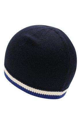 Детского шерстяная шапка POLO RALPH LAUREN темно-синего цвета, арт. 322751649 | Фото 2