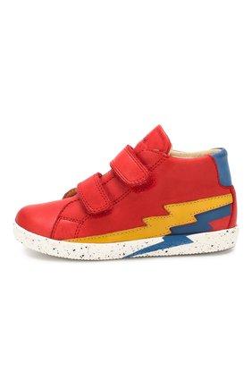 Детские кожаные кеды FALCOTTO красного цвета, арт. 0012014047/02 | Фото 2