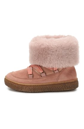 Замшевые ботинки с меховой отделкой   Фото №2