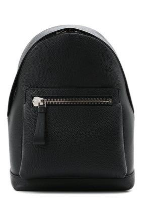 Мужской кожаный рюкзак TOM FORD темно-синего цвета, арт. H0414P-LCL041 | Фото 1