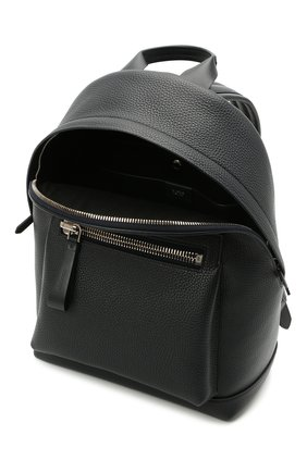Мужской кожаный рюкзак TOM FORD темно-синего цвета, арт. H0414P-LCL041 | Фото 4