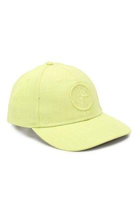 Мужской бейсболка STONE ISLAND светло-зеленого цвета, арт. 711599175 | Фото 1