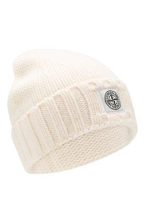 Мужская шерстяная шапка STONE ISLAND белого цвета, арт. 7115N17D6 | Фото 1