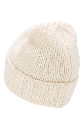 Мужская шерстяная шапка STONE ISLAND белого цвета, арт. 7115N17D6 | Фото 2