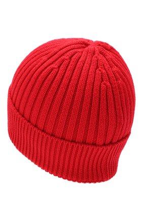 Мужская шерстяная шапка MONCLER красного цвета, арт. E2-097-00259-00-04761 | Фото 2