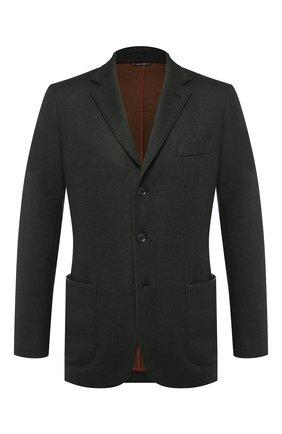 Мужской кашемировый пиджак LORO PIANA темно-синего цвета, арт. FAD2474 | Фото 1