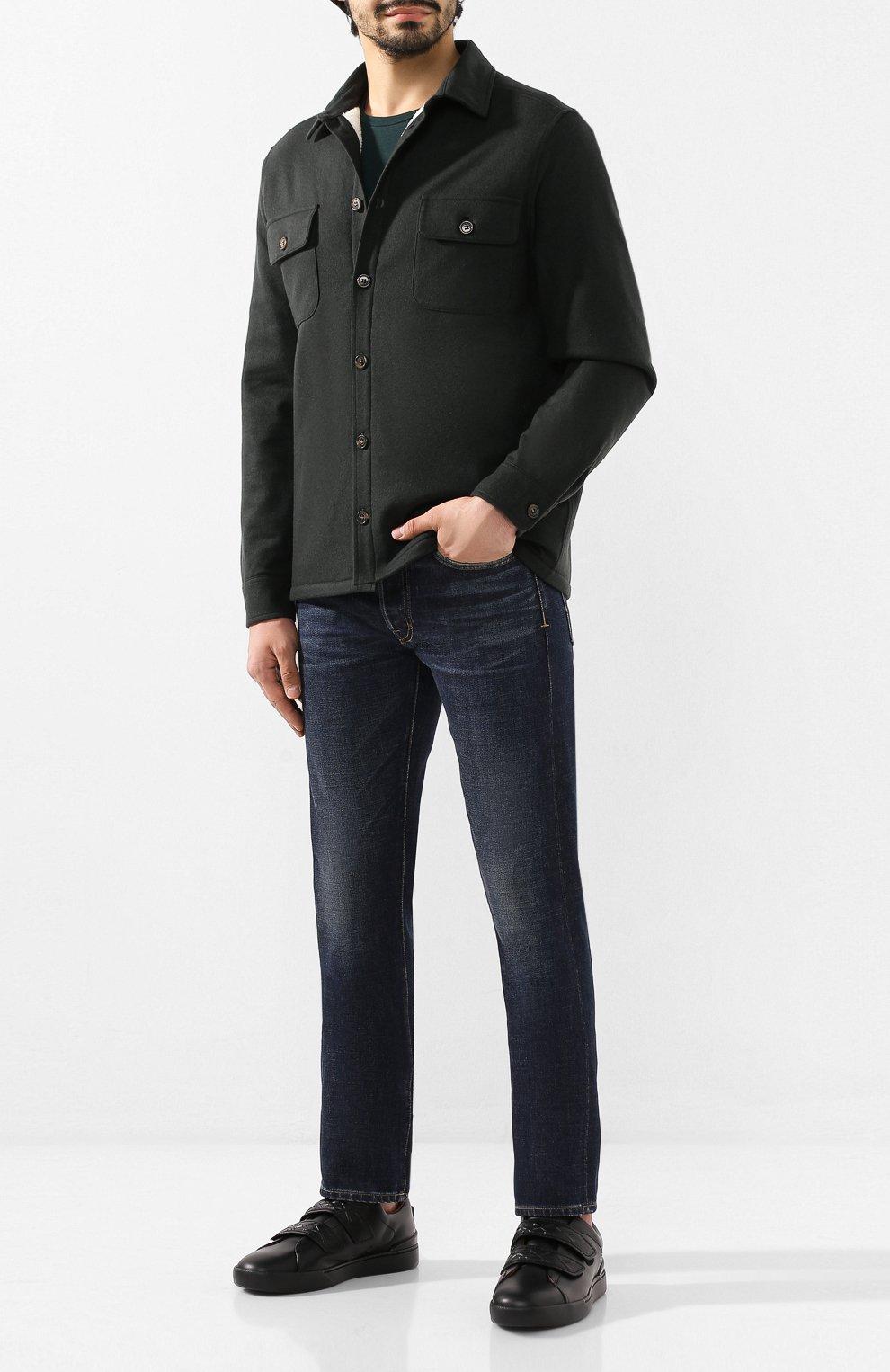 Мужская кашемировая куртка LORO PIANA темно-зеленого цвета, арт. FAI8849   Фото 2