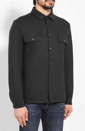 Мужская кашемировая куртка LORO PIANA темно-зеленого цвета, арт. FAI8849   Фото 3