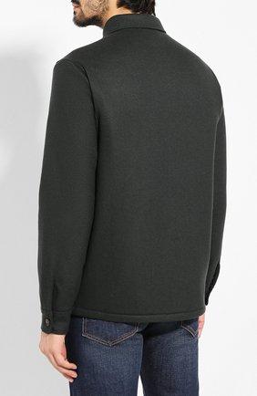 Мужская кашемировая куртка LORO PIANA темно-зеленого цвета, арт. FAI8849   Фото 4