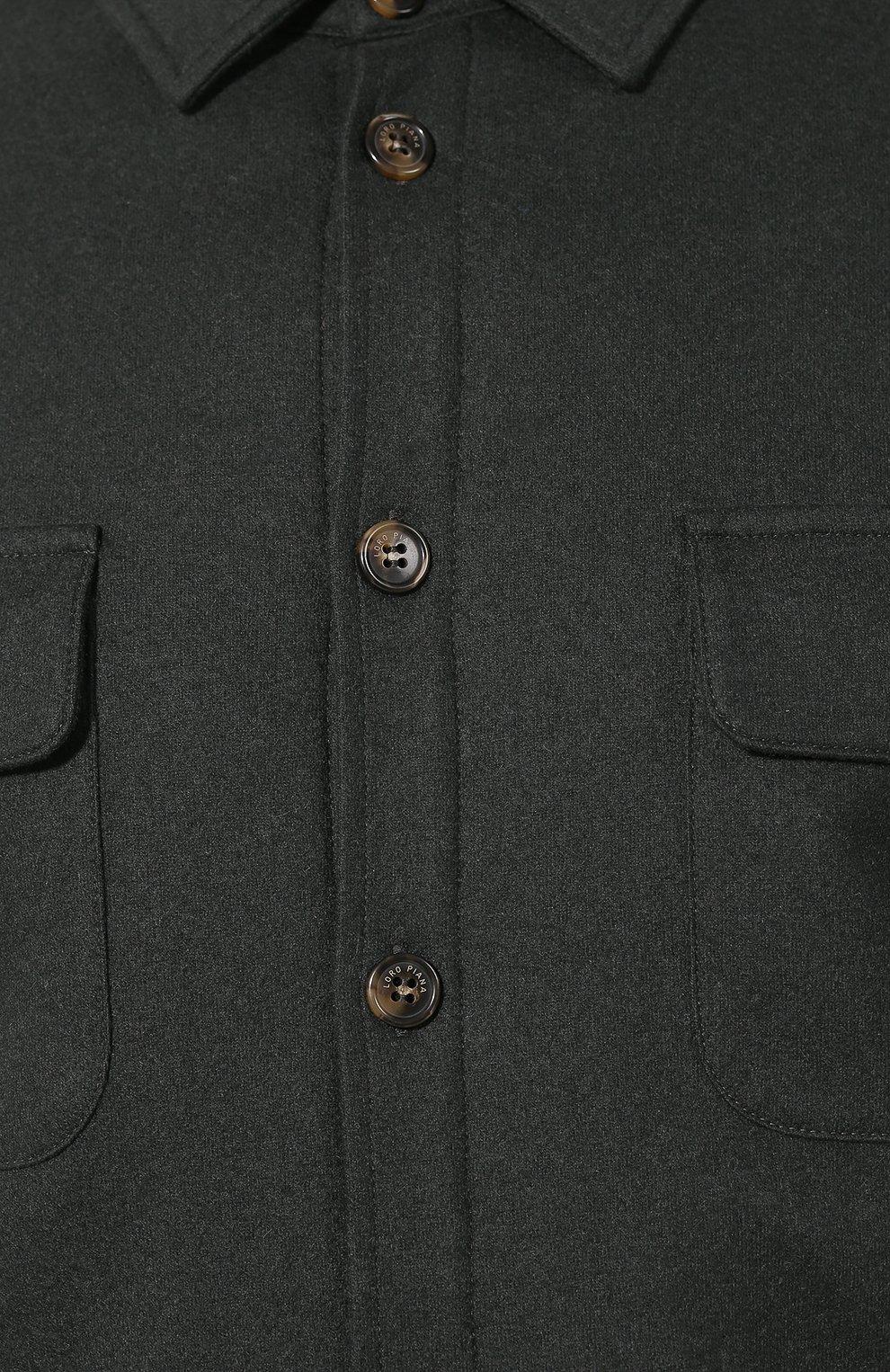Мужская кашемировая куртка LORO PIANA темно-зеленого цвета, арт. FAI8849   Фото 5