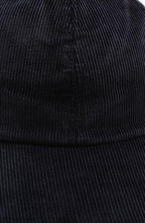 Мужской хлопковая бейсболка LORO PIANA темно-синего цвета, арт. FAI8961 | Фото 3