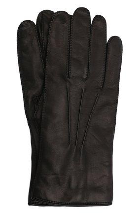 Мужские кожаные перчатки LORO PIANA черного цвета, арт. FAI8883 | Фото 1