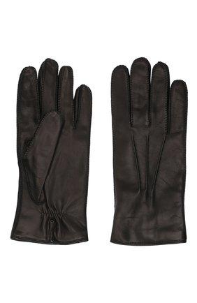 Мужские кожаные перчатки LORO PIANA черного цвета, арт. FAI8883 | Фото 2