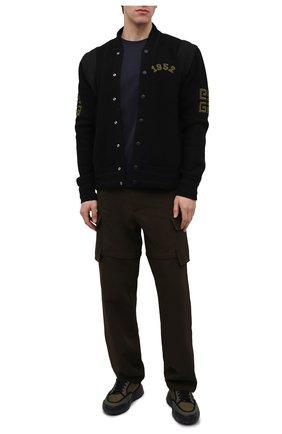 Мужская хлопковая футболка BURBERRY синего цвета, арт. 8014022   Фото 2