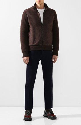 Мужские кожаные кроссовки BRIONI темно-синего цвета, арт. QHH30L/08798 | Фото 2