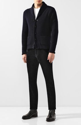 Мужские джинсы RALPH LAUREN темно-синего цвета, арт. 790752587 | Фото 2 (Материал внешний: Хлопок; Длина (брюки, джинсы): Стандартные; Силуэт М (брюки): Прямые)
