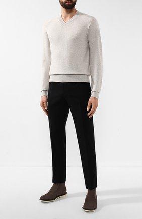 Мужской кашемировый пуловер TOM FORD светло-серого цвета, арт. BTK66/TFK300 | Фото 2