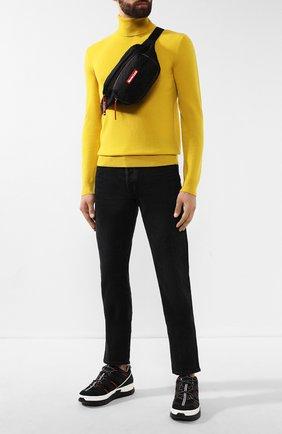 Мужская текстильная поясная сумка durance MONCLER черного цвета, арт. E2-09A-00644-00-53234 | Фото 2