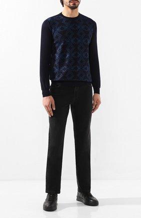 Мужские джинсы ZILLI темно-серого цвета, арт. MCS-00029-SSN01/R002 | Фото 2