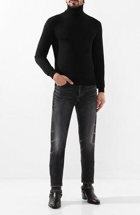 Мужские джинсы SAINT LAURENT серого цвета, арт. 584475/YC867 | Фото 2
