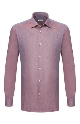 Мужская хлопковая сорочка KITON фиолетового цвета, арт. UMCNERCH0713104 | Фото 1