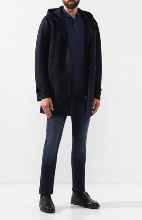 Мужское шерстяное поло FEDELI синего цвета, арт. 2UI07129 | Фото 2