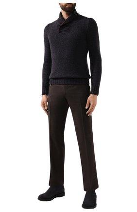 Мужской шерстяной свитер GRAN SASSO синего цвета, арт. 10107/25701 | Фото 2