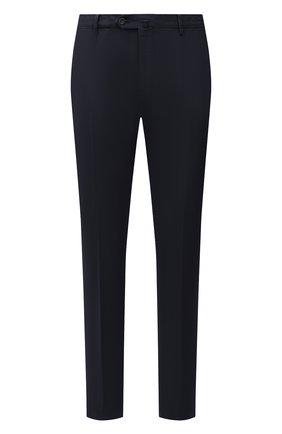 Мужской хлопковые брюки LORO PIANA темно-синего цвета, арт. FAE8346 | Фото 1