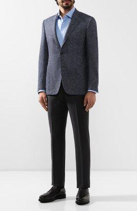 Мужской пиджак из смеси шерсти и хлопка CANALI темно-синего цвета, арт. 21288/CF02216/112 | Фото 2
