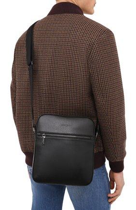 Мужская кожаная сумка CANALI черного цвета, арт. P326040/NA00053 | Фото 2