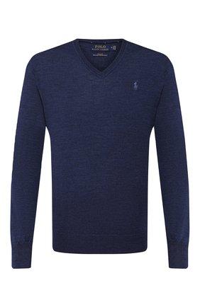 Мужской шерстяной пуловер POLO RALPH LAUREN синего цвета, арт. 710714347 | Фото 1
