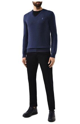 Мужской шерстяной пуловер POLO RALPH LAUREN синего цвета, арт. 710714347 | Фото 2