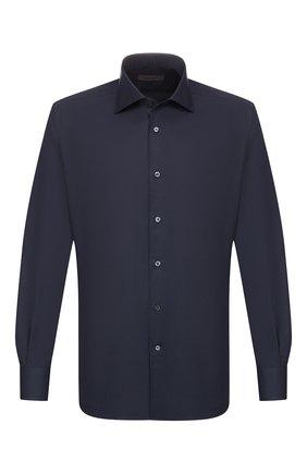 Мужская хлопковая сорочка CORNELIANI темно-синего цвета, арт. 84P100-9811044/00 | Фото 1