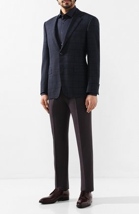 Мужская хлопковая сорочка CORNELIANI темно-синего цвета, арт. 84P100-9811044/00 | Фото 2