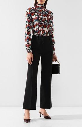 Женская кожаные туфли valentino garavani rockstud VALENTINO бордового цвета, арт. SW2S0H14/FBW | Фото 2