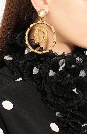Женские серьги-клипсы DOLCE & GABBANA золотого цвета, арт. WEL6A3/W1111 | Фото 2