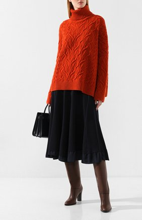 Женские кожаные сапоги debbie LORO PIANA коричневого цвета, арт. FAI7052 | Фото 2