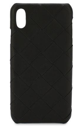 Мужской чехол для iphone xs max BOTTEGA VENETA черного цвета, арт. 577750/V00BL | Фото 1