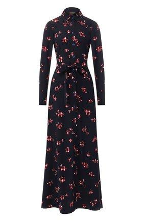 Женское шелковое платье POUSTOVIT разноцветного цвета, арт. w20P-5206 | Фото 1