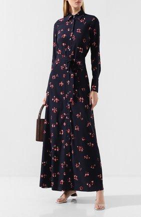 Женское шелковое платье POUSTOVIT разноцветного цвета, арт. w20P-5206 | Фото 2