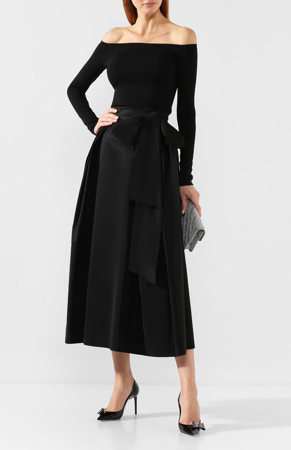 Женская юбка-миди ALEXANDER TEREKHOV черного цвета, арт. SK336/1601.900/W20 | Фото 2
