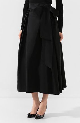 Женская юбка-миди ALEXANDER TEREKHOV черного цвета, арт. SK336/1601.900/W20 | Фото 3
