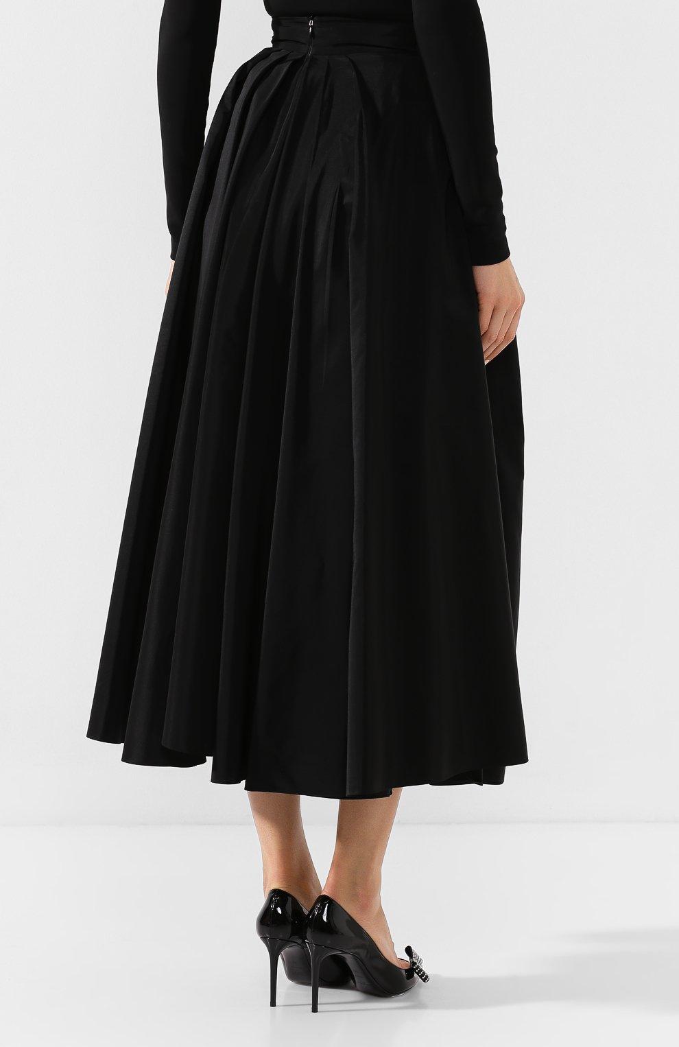 Женская юбка-миди ALEXANDER TEREKHOV черного цвета, арт. SK336/1601.900/W20 | Фото 4
